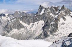La Francia, catena montuosa Mont Blanc Immagini Stock Libere da Diritti
