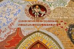 La Francia, chiesa pittoresca di Menil Gondouin Immagini Stock