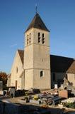 La Francia, chiesa Saint Eloi in Les Menuls Fotografia Stock