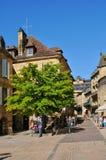 La Francia, città pittoresca della La Caneda di Sarlat nella Dordogna Immagini Stock