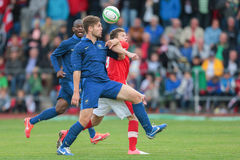 La Francia contro l'Austria (U19) Fotografia Stock