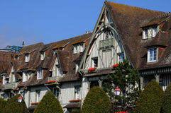 La Francia, grande hotel pittoresco Normandia a Deauville in Normand Fotografie Stock Libere da Diritti