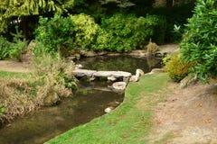 La Francia, il giardino giapponese pittoresco di Aincourt Fotografia Stock Libera da Diritti