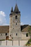La Francia, il villaggio pittoresco di La Chaussée d Ivry Immagini Stock Libere da Diritti