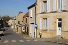 La Francia, il villaggio pittoresco di Sagy Fotografie Stock Libere da Diritti