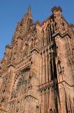 Cattedrale di Strasburgo nell'Alsazia Fotografie Stock