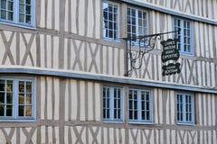 La Francia, la città pittoresca di Rouen in Normandie Immagini Stock Libere da Diritti