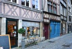 La Francia, la città pittoresca di Rouen in Normandie Fotografia Stock Libera da Diritti
