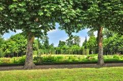 La Francia, la proprietà di Marie Antoinette nel parc di PA di Versailles Immagine Stock