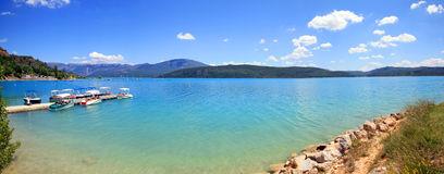 La Francia - Lac de Sainte Croix Fotografie Stock Libere da Diritti