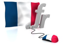 La Francia in linea fotografia stock