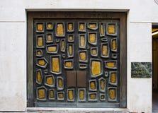 La Francia, Parigi, il 6 agosto 2017: Entrata principale alla camera di contabilità della Francia, comptes del DES di Cour fotografie stock