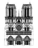 La Francia; Parigi; Illustrazione di Notre Dame illustrazione vettoriale