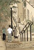 La Francia Parigi Montmartre Fotografia Stock