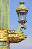 La Francia, Parigi: Vecchio lamp-post Immagini Stock Libere da Diritti