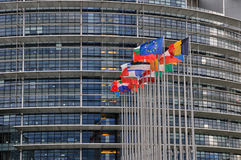 La Francia, Parlamento Europeo di Strasburgo Fotografia Stock Libera da Diritti
