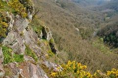 La Francia, Roche pittoresco d Oetre nel sur Orne di Philibert del san Fotografie Stock