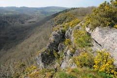 La Francia, Roche pittoresco d Oetre nel sur Orne di Philibert del san Immagini Stock Libere da Diritti