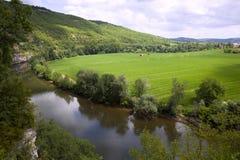 La Francia scenica - la valle del lotto Immagini Stock
