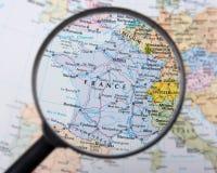 La Francia sotto il magnifier Fotografie Stock