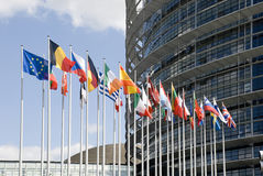 La Francia, Strasburgo Europarliament Immagine Stock Libera da Diritti