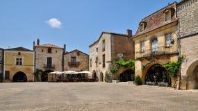 La Francia, villaggio di Monpazier in Perigord Immagine Stock Libera da Diritti