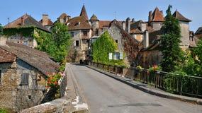 La Francia, villaggio pittoresco di Carennac nel lotto Fotografia Stock