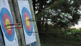 La freccia colpisce l'obiettivo stock footage
