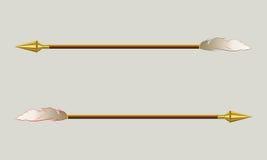 La freccia con una punta dell'oro Immagini Stock Libere da Diritti