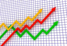 La freccia del diagramma Immagine Stock Libera da Diritti