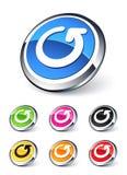 La freccia dell'icona che ricicla/rinfresca Fotografia Stock