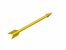 La freccia gialla Fotografie Stock Libere da Diritti