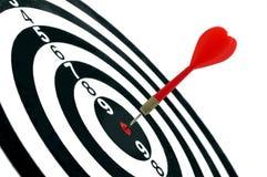 La freccia ha colpito il centro dell'obiettivo Immagine Stock Libera da Diritti