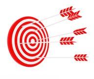 La freccia ha colpito l'obiettivo Fotografia Stock