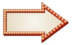 La freccia illumina il segno Fotografie Stock Libere da Diritti