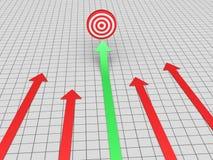 La freccia trova l'obiettivo Immagine Stock