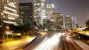 La freeway overpass timelapse stock video footage