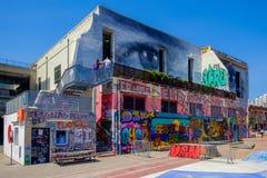 Marseilles-Friche La Belle De Mai-6. `La Friche la Belle de Mai` a heavy graffiti cultural site including T.V and Cinema set in a gentrifying old district of royalty free stock image