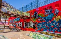 Marseilles-Friche La Belle De Mai-4. `La Friche la Belle de Mai` a heavy graffiti cultural site including T.V and Cinema set in a gentrifying old district of royalty free stock photography