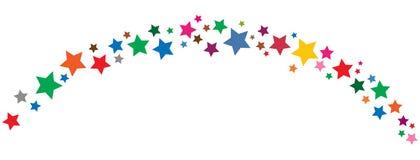 La frontera colorida de las estrellas le gusta vibgyor stock de ilustración