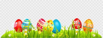 La frontera de Pascua eggs el texto 3D ilustración del vector