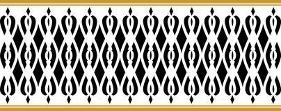 La frontera decorativa elegante compuso de colores negros y de oro stock de ilustración