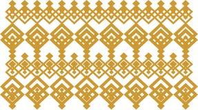 La frontera decorativa elegante compuso de oro cuadrado y del blanco 13 ilustración del vector