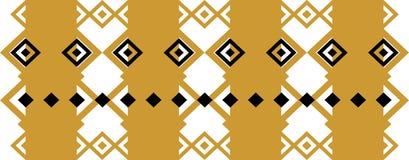 La frontera decorativa elegante compuso de oro cuadrado y del negro 19 stock de ilustración