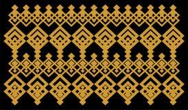 La frontera decorativa elegante compuso de oro cuadrado y del negro 14 ilustración del vector