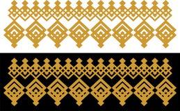 La frontera decorativa elegante compuso de oro cuadrado y del negro 30 stock de ilustración