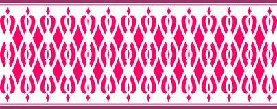 La frontera decorativa elegante compuso de varios colores rojos stock de ilustración