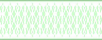 La frontera decorativa elegante compuso de varios colores verdes 2 ilustración del vector