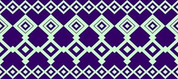 La frontera decorativa elegante compuso de verde claro y azul marino cuadrados stock de ilustración