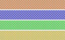 La frontera decorativa elegante compuso del grado de los polígonos anaranjado, azul, verde y amarillo stock de ilustración